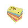 3M POSTIT Öntapadó jegyzettömb, 76x127 mm, 100 lap, 3M POSTIT, energikus színek