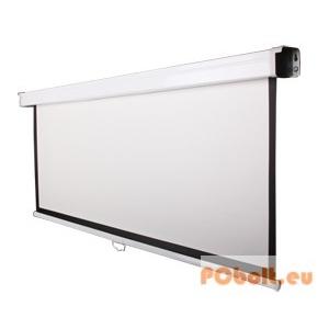 Funscreen Matt White Rollo 132x234 cm Format:16:9 fehér acél tok