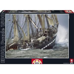 Educa Educa 1500 db-os puzzle - Vitorlás hajó - Belém, Portugália (16003)