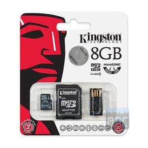 Kingston 8GB microSDHC Generation 2 Multi-kit Class 4 memóriakártya