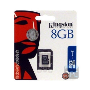 Kingston 8GB Class 4 microSDHC memóriakártya Single Pack