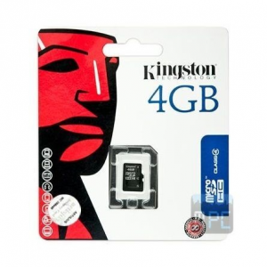 Kingston 4GB Class 4 microSDHC memóriakártya Single Pack