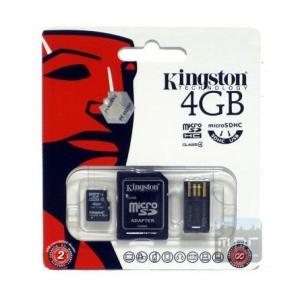 Kingston 4GB microSDHC Generation 2 Multi-kit Class 4 memóriakártya
