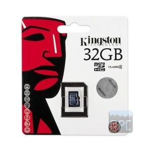 Kingston 32GB Class 4 microSDHC memóriakártya Single Pack
