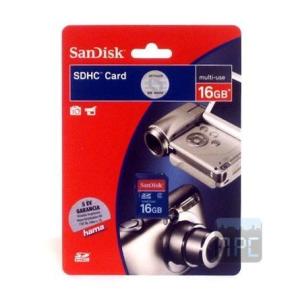 Sandisk 16GB SDHC Secure Digital Class 4 memóriakártya