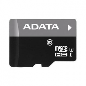 A-Data Micro SDHC - mier 16GB + SD adapter, UHS-I, Class 10 - 30 MB/s
