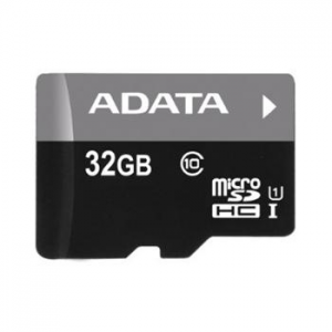 A-Data Micro SDHC - mier 32GB + SD adapter, UHS-I, Class 10 - 30 MB/s