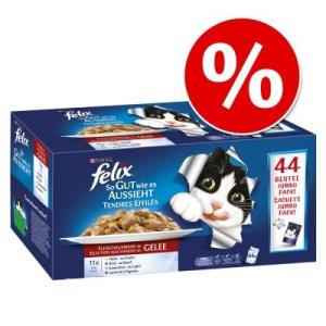 "FELIX ""So gut wie es aussieht"" Jumbo-Pack 44 x 100 g - Finom húsos változat"