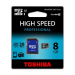 Toshiba Memóriakártya, Micro SDHC, 8GB, Class 10, adapterrel, TOSHIBA