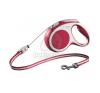 Flexi Vario M - 5 méteres zsinóros póráz Piros nyakörv, póráz, hám kutyáknak