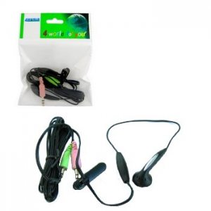 4world Headset mini mikrofonnal skype-hoz