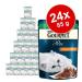 Gourmet Perle 24 x 85 g - Válogatott lazaccsíkok