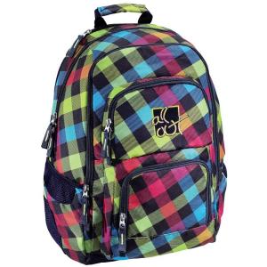 Hama Kereskedelmi Kft. Hama iskola hátizsák all out /Rainbow/ színes kockás