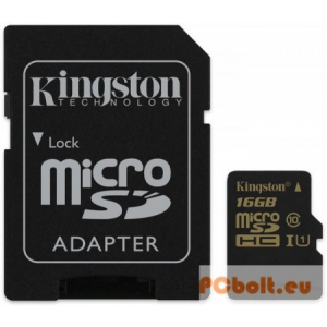 Kingston 16GB microSDHC Class10 UHS-I + adapter