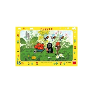 Dino DINO - Puzzle 15 db, keretes - Kisvakond útra kel