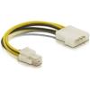 DELOCK Cable P4 male -> Molex 4pin male 15cm (82391)
