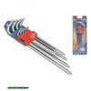 torx kulcs klt. 9db, extra hosszú; T10-T50, hosszú szár: tömör, rövid szár: lyukas, CV., 90-225mm