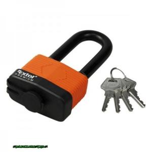 lakat, laminált, vízálló, hosszított kengyel, 4db kulcs; 65mm, kengyelszárátmérő:13/18mm