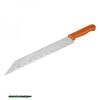 üveggyapot vágó kés, teljes/penge hossz.:480/340mm, rozsdamentes acél penge, vastagsága: 1,5mm, műanyag nyél