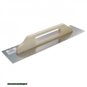 svájci glettelő rozsdamentes (fa nyél) 13×48cm