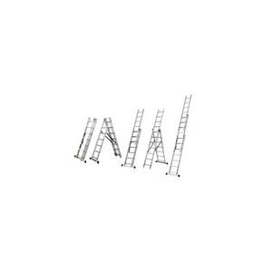 Jkh létra többcélú 3x6 fokos (alu)