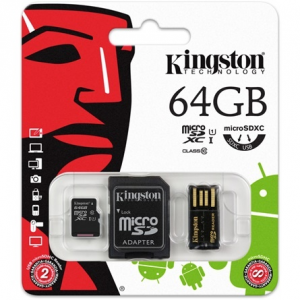 Kingston 64GB Generation 2 Multi-kit Class 10 microSDXC memóriakártya MBLY10G2/64GB