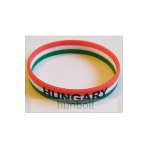 Szilikon Hungary nemzeti színű karkötő 18 cm