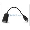 Haffner Micro USB - OTG USB kábel - fekete