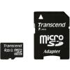 Transcend Micro SDHC 4GB Class 4 memóriakártya + adapter (TS4GUSDHC4)