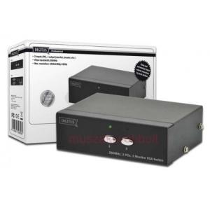 Digitus VGA switch választókapcsoló - 2 gép / 1 monitor (DS44100)