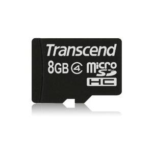 Transcend Micro SDHC 8GB Class 4 memóriakártya (TS8GUSDC4)