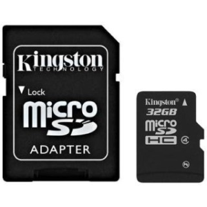 Kingston Micro SDHC 32GB Class 4 memóriakártya (SDC4/32GB)