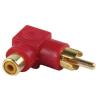 Aranyozott RCA - RCA adapter piros / AC-055