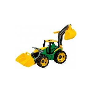 LENA Óriás traktor kotróval és markolóval Zöld/Sárga