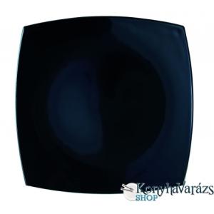 LUMINARC QUADRATO fekete tányér lapos 26,5 cm
