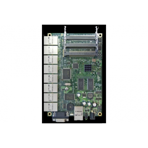 MIKROTIK RouterBOARD 493 with 680MHz Atheros CPU, 128MB RAM, 9 LAN, 3 miniPCI, RouterOS L5