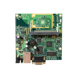 MIKROTIK RouterBOARD 411 with 300MHz Atheros AR7130 CPU, 32MB DDR RAM, 1 LAN, 1 miniPCI, 64MB NAND with RouterOS L3