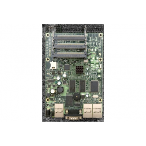 MIKROTIK RouterBOARD 433 with Atheros AR7161 680MHz Network CPU (overclock to 800MHz), 128MB DDR RAM, 3 10/100 ethernet ports wit