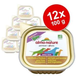 Almo Nature Classic Almo Nature Bio pástétom gazdaságos csomag 12 x 100 g - Borjú & zöldség