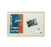 ESSELTE Fehér tábla, mágneses, 60x90 cm, fa keret, felírótábla