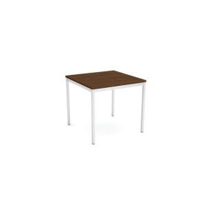 """MAYAH Általános asztal fémlábbal, 80x80 cm,  """"Premio""""  CS-3"""", dió"""