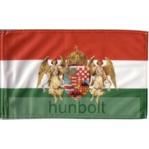 Nemzeti színű barna angyalos zászló 90x150 cm