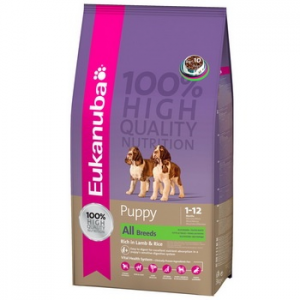 Eukanuba Puppy & Junior Lamb & Rice 15 kg