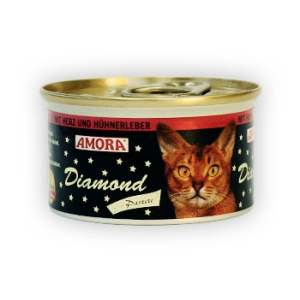 Amora Amora Diamond Katze 85g Szív&Csirkemáj