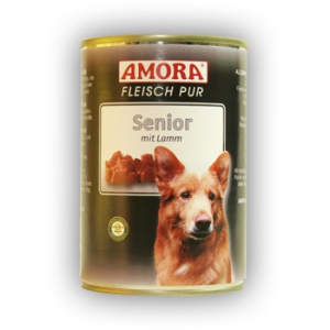 Amora Amora Fleisch Pur Hund 400g Senior Bárány
