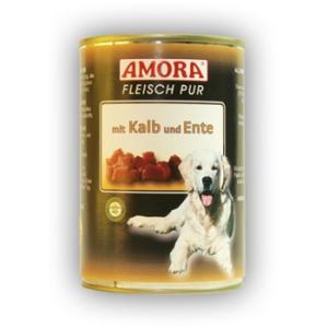 Amora Amora Fleisch Pur Konzerv 400g Borjú&Kacsa