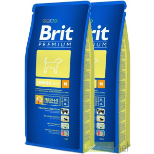 Brit Premium Junior Medium kutyatáp 2X15 kg DuoPack