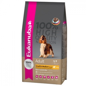 Eukanuba Adult Small&Medium Lamb & Rice 12 kg