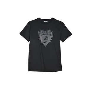 LAMBORGHINI SHIELD SHORT SLEEVE T-SHIRT BLACK - M