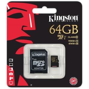 Kingston 64GB Class 10;UHS-1 microSDXC memóriakártya SDCA10/64GB